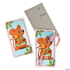 Christmas Mouse Cards with Candy Canes