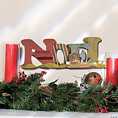 Christmas Noel Mantel Decoration Idea