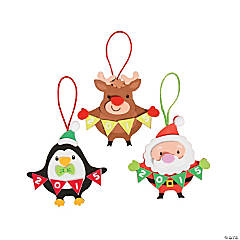 2015 Christmas Ornament Character with Banner Craft Kit