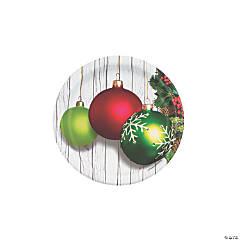 Christmas Ornament Round Paper Dessert Plates