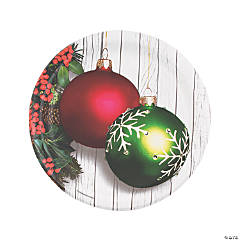 Christmas Ornament Round Paper Dinner Plates
