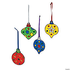 Christmas Ornament Suncatchers