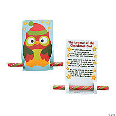 Christmas Owl Cards with Candy Stick