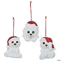 Christmas Polar Bear Ornaments