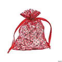 Christmas Polka Dots Organza Drawstring Bags