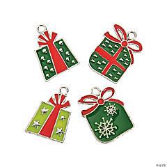 Christmas Present Enamel Charms