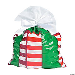 Christmas Present-Shaped Cellophane Bags