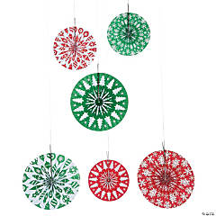 Christmas Print Hanging Fans
