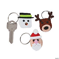 Christmas Puffball Key Chain