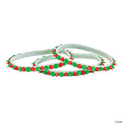 Christmas Spike Rubber Bracelets