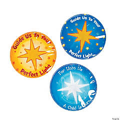 Christmas Star Light-Up Badges