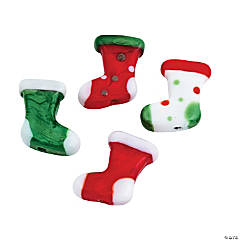 Christmas Stocking Lampwork Beads - 1/2