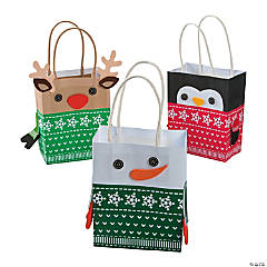 Christmas Sweater Character Gift Bag Craft Kit