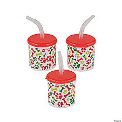 Christmas Tails Cups with Straws