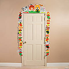 Christmas Tails Door Border