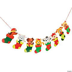 Christmas Tails Hanging Garland