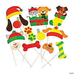Christmas Tails Photo Stick Props