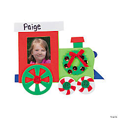 Christmas Train Picture Frame Magnet Craft Kit
