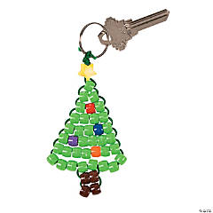 Christmas Tree Beaded Key Chain Craft Kit