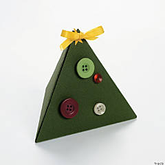 Christmas Tree Boxes with Buttons Idea