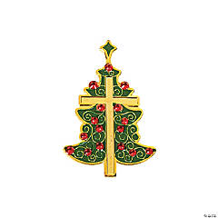 Christmas Tree Cross Pins