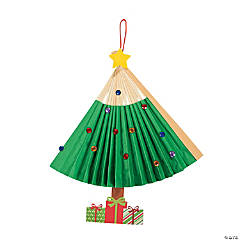 Christmas Tree Fold-Up Fan Craft Kit