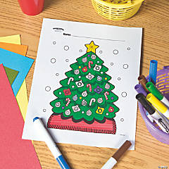 Christmas Tree Free Printable Coloring Page