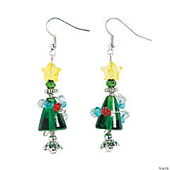 Christmas Tree with Stand Earrings Craft Kit