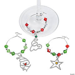 Christmas Wine Glass Charm Idea