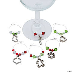 Christmas Wine Glass Charms Idea