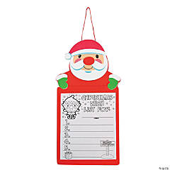 """Christmas Wish List"" Sign Craft Kit"