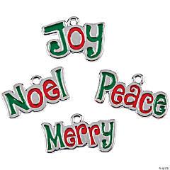 Christmas Words Enamel Charms