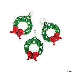 Christmas Wreath Premium Glass Charms