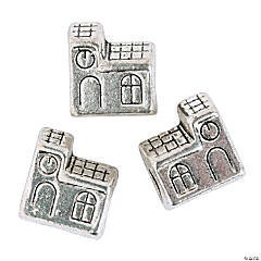 Church Large Hole Beads - 10mm