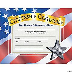 Citizenship Certificate, 30 per Pack, 6 Packs