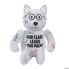 Class Mascot Autograph Stuffed Wolf