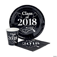 Class of 2018 Black Tableware Set for 50