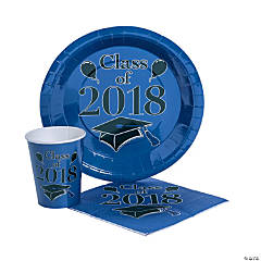 Class of 2018 Blue Tableware Set for 50