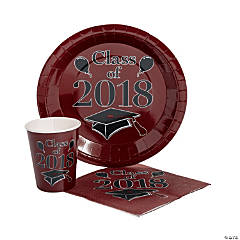 Class of 2018 Burgundy Tableware Set for 50