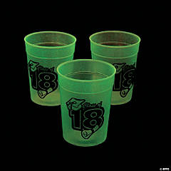 Class of 2018 Glow-in-the-Dark Plastic Cups