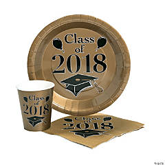 Class of 2018 Gold Tableware Set for 50