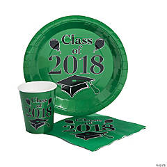 Class of 2018 Green Tableware Set for 50