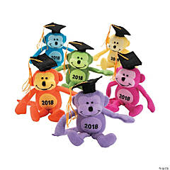 Class of 2018 Neon Stuffed Monkeys