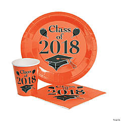 Class of 2018 Orange Tableware Set for 50
