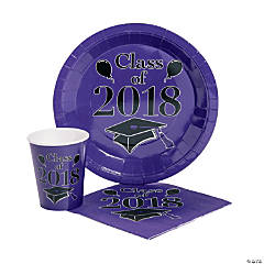 Class of 2018 Purple Tableware Set for 50
