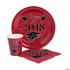 Class of 2018 Red Tableware Set for 50