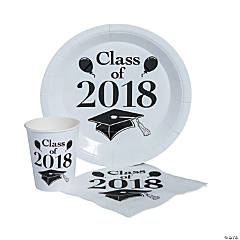 Class of 2018 White Tableware Set for 50