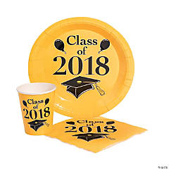 Class of 2018 Yellow Tableware Set for 50