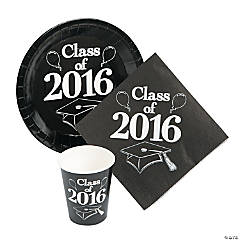 Class of 2016 Black Tableware Set