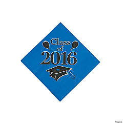 Class of 2016 Blue Beverage Napkins